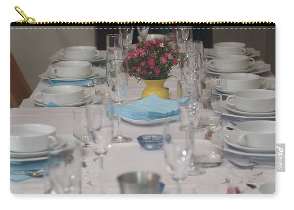 Table Set For A Jewish Festive Meal Carry-all Pouch