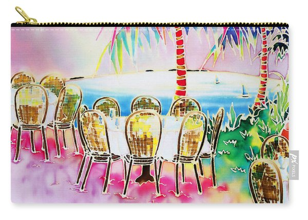 Tables On The Beach Carry-all Pouch