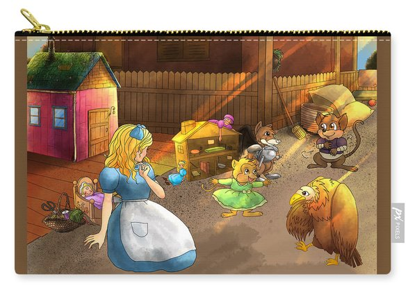 Tammy And Friends In The Backyard Carry-all Pouch