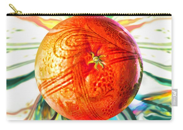 Tangerine Orb Nouveau Carry-all Pouch