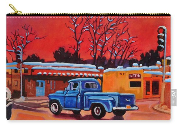 Taos Blue Truck At Dusk Carry-all Pouch