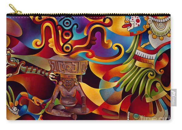 Tapestry Of Gods - Huehueteotl Carry-all Pouch