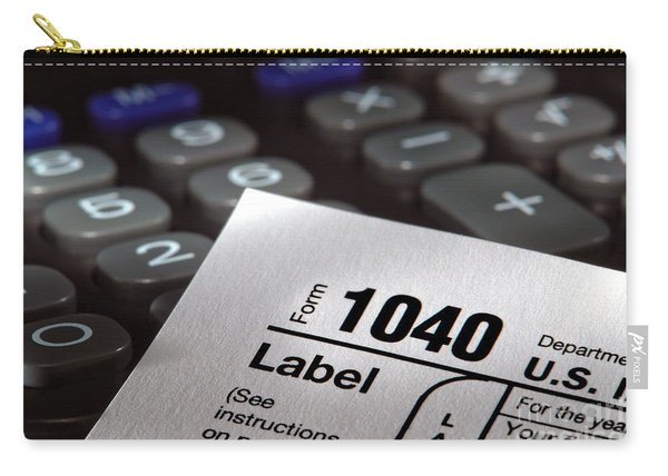 Tax Form 1040 Carry-all Pouch