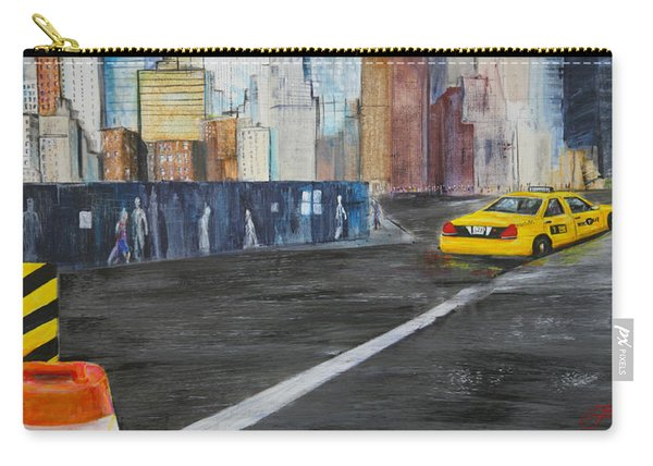 Taxi 9 Nyc Under Construction Carry-all Pouch