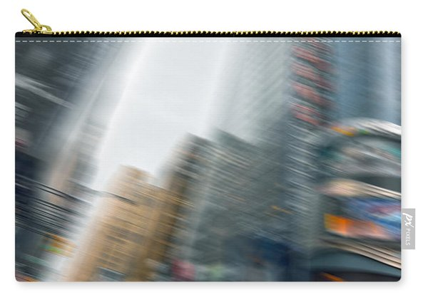 Taxi On Times Square Carry-all Pouch