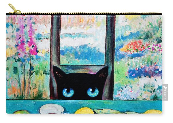 Tea Time Kitty Carry-all Pouch