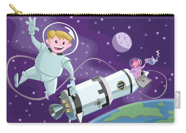 Carry-all Pouch featuring the painting Tea Time Space Walk by Martin Davey