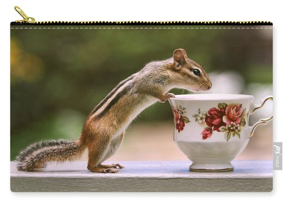 Tea Time With Chipmunk Carry-all Pouch
