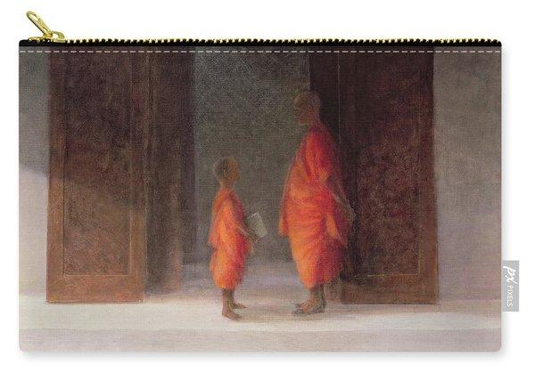 Teacher, 2005 Acrylic On Canvas Carry-all Pouch