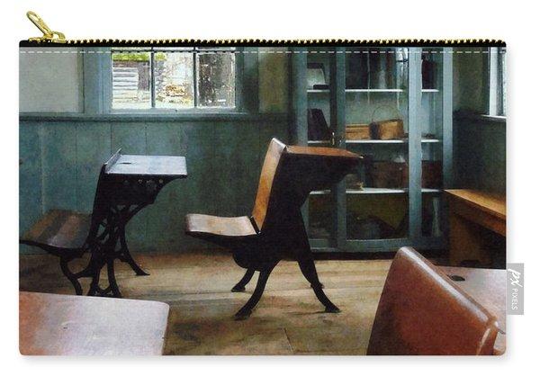 Teacher - One Room Schoolhouse With Clock Carry-all Pouch