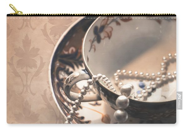 Teacup And Pearls Carry-all Pouch