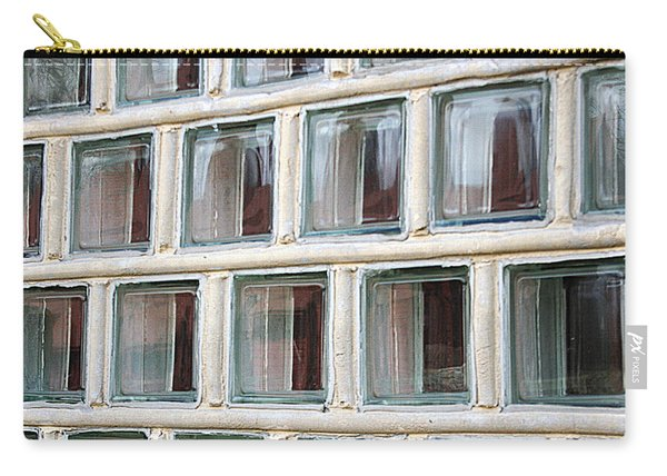 Carry-all Pouch featuring the photograph Technocratic Windows by William Selander