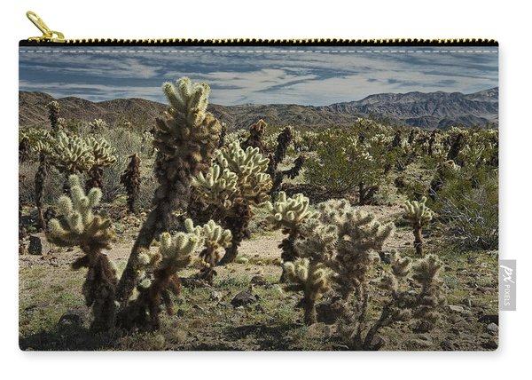 Teddy Bear Cholla Cactus In California 0251 Carry-all Pouch