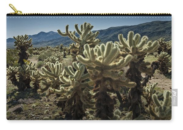 Teddy Bear Cholla Cactus In California 0263 Carry-all Pouch