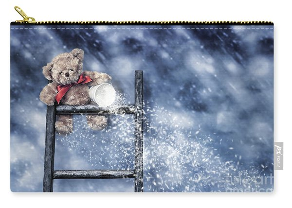 Teddy Throwing Snow Carry-all Pouch