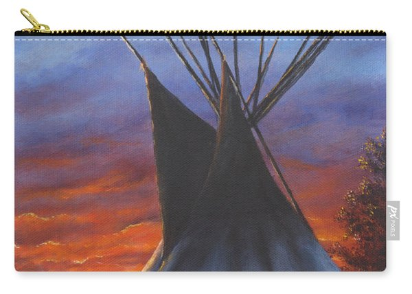 Teepee At Sunset Part 2 Carry-all Pouch