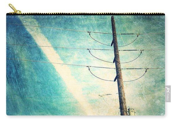 Telephone Pole And Wide Contrail Carry-all Pouch