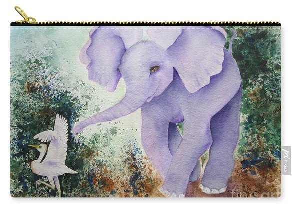 Carry-all Pouch featuring the painting Tembo Tag by Diane DeSavoy