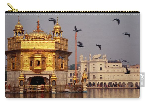 Temple At The Waterfront, Golden Carry-all Pouch