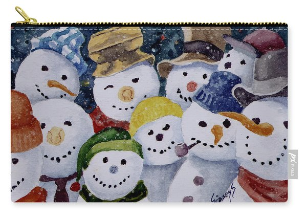 Ten Little Snowmen Carry-all Pouch