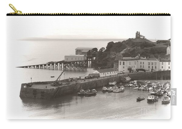 Tenby Harbour And Castle Hill Vignette Carry-all Pouch