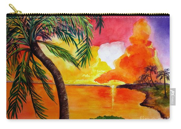 Carry-all Pouch featuring the painting Tequila Sunset by Diane DeSavoy