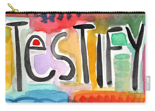 Testify- Colorful Pop Art Painting Carry-all Pouch