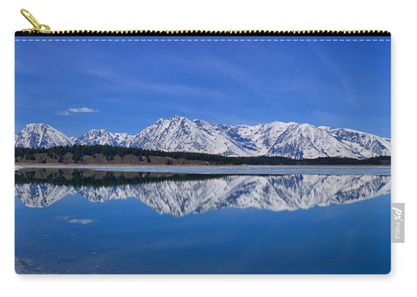 Teton End Of Winter Reflections Carry-all Pouch