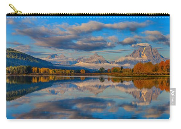Teton Panoramic Reflections At Oxbow Bend Carry-all Pouch