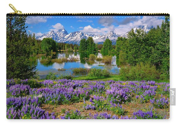 Teton Spring Lupines Carry-all Pouch