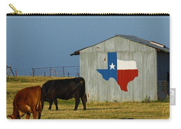 Texas Farm With Texas Logo Carry-all Pouch