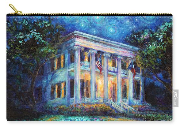 Texas Governor Mansion Painting Carry-all Pouch