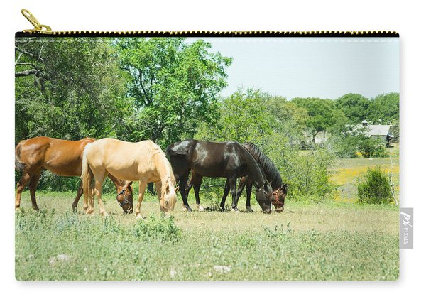Texas Highway 1431 Horses Grazing Carry-all Pouch