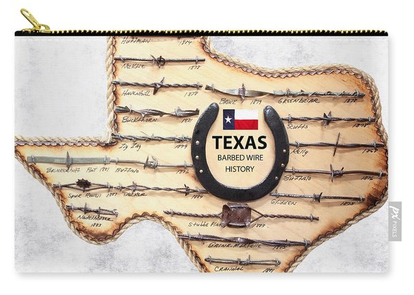 Texas Old-west Barbed Wire Carry-all Pouch
