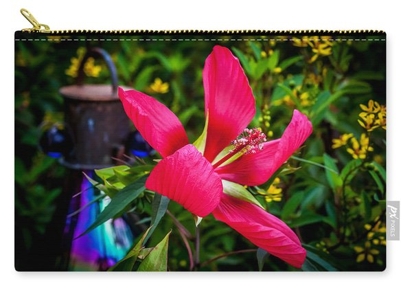 Texas Star Or Swamp Hibiscus Bloom Painted  Carry-all Pouch