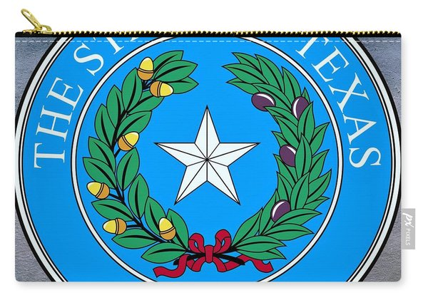Texas State Seal Carry-all Pouch