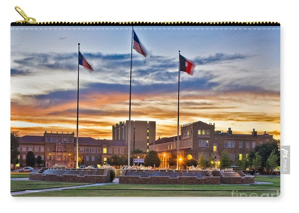Carry-all Pouch featuring the photograph Memorial Circle At Sunset by Mae Wertz