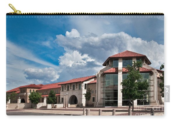 Carry-all Pouch featuring the photograph Texas Tech Student Union by Mae Wertz