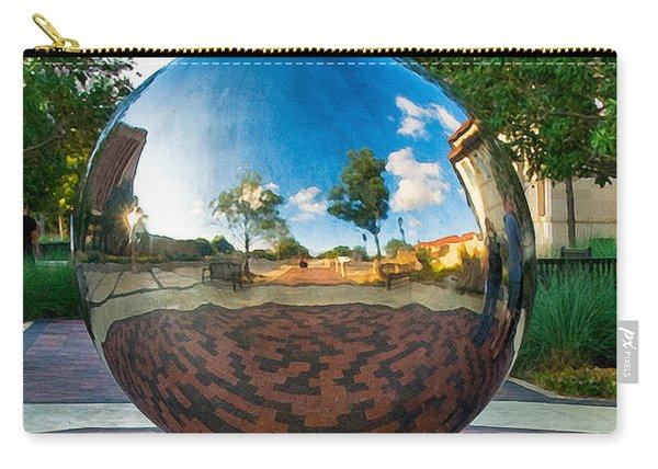 Carry-all Pouch featuring the photograph Tech World by Mae Wertz