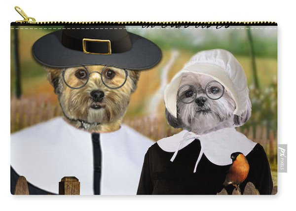 Thanksgiving From The Dogs Carry-all Pouch