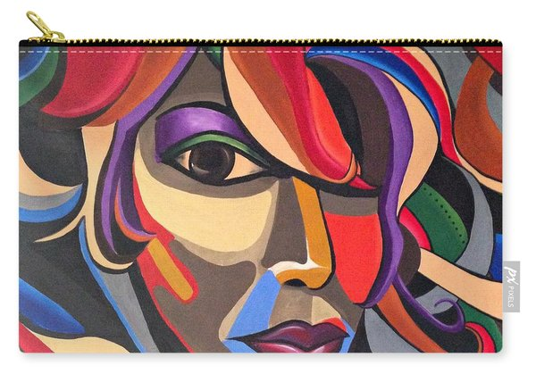 Abstract Woman Art, Abstract Face Art Acrylic Painting Carry-all Pouch
