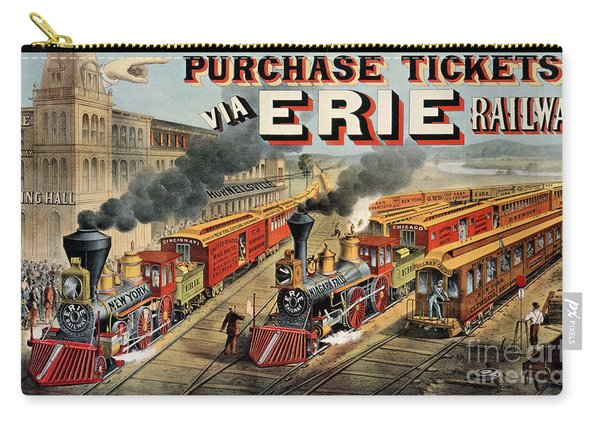 The American Railway Scene  Carry-all Pouch