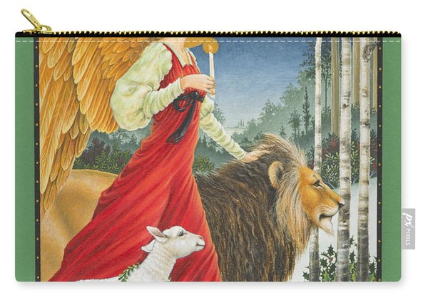 The Angel The Lion And The Lamb Carry-all Pouch