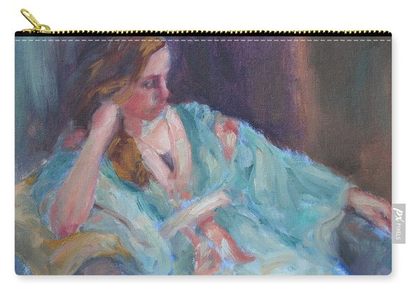Inner Light - Original Impressionist Painting Carry-all Pouch