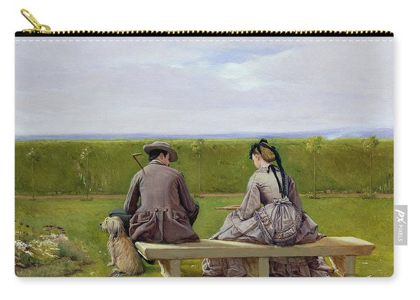 The Bench By The Sea Carry-all Pouch