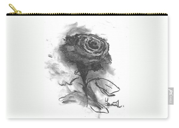 The Black Rose Carry-all Pouch