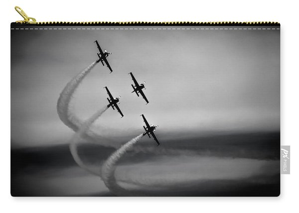 Carry-all Pouch featuring the photograph The Blades In Formation Sunderland Air Show 2014 by Scott Lyons