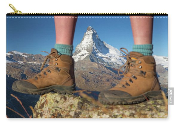 The Boots Of A Female Hiker Carry-all Pouch