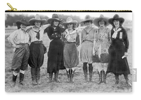 The Cheyenne Rodeo Roundup Cowgirls Carry-all Pouch