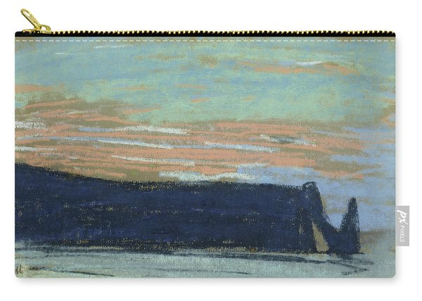 The Cliff At Etretat, C.1885 Pastel Carry-all Pouch